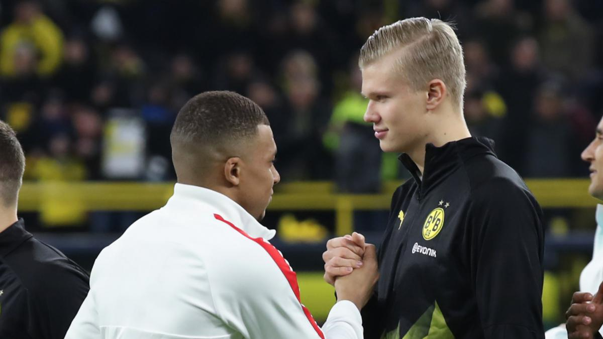 Mbappe dan Haaland biasa saling berhadapan di Liga Champions 2019-2020.  Foto: AS.