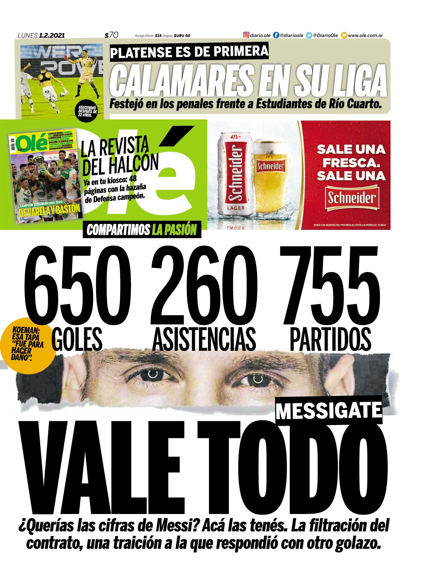Ole ใช้เค้าโครงและตัวเลขของ El Mundo อย่างถูกต้องเพื่อปฏิเสธหนังสือพิมพ์สเปนที่เปิดเผยสัญญาที่เลวร้ายของ Messi กับ Barca