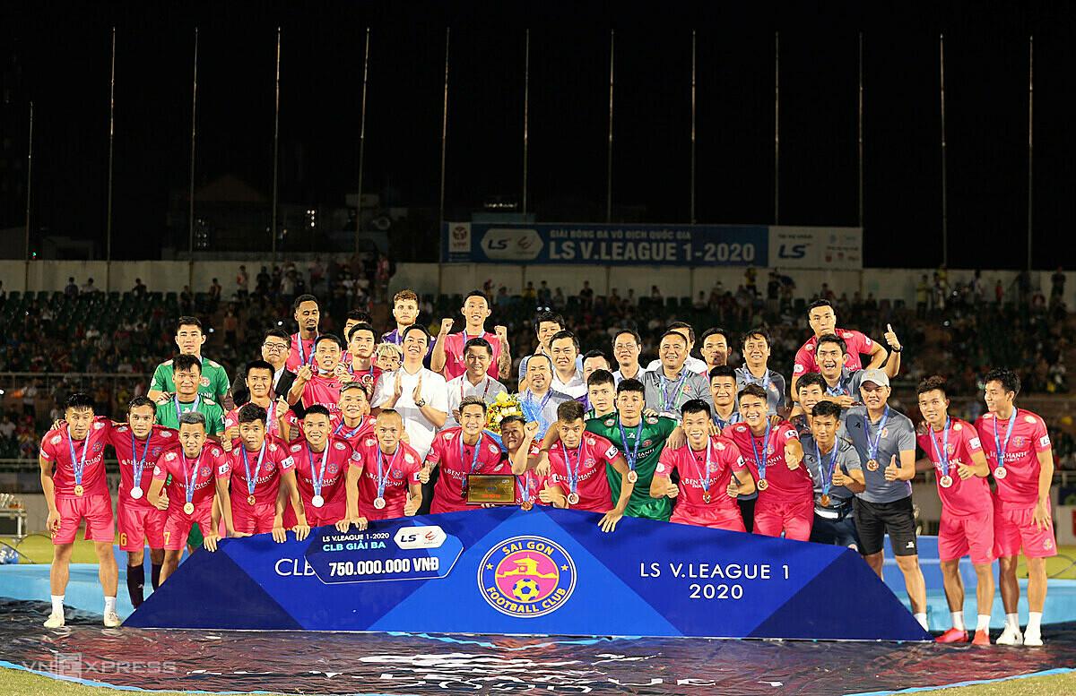 สโมสรไซง่อนคว้าตั๋วเข้าชม AFC Cup 2021 หลังจบอันดับสาม V-League 2020 รูปภาพ: Duc Dong