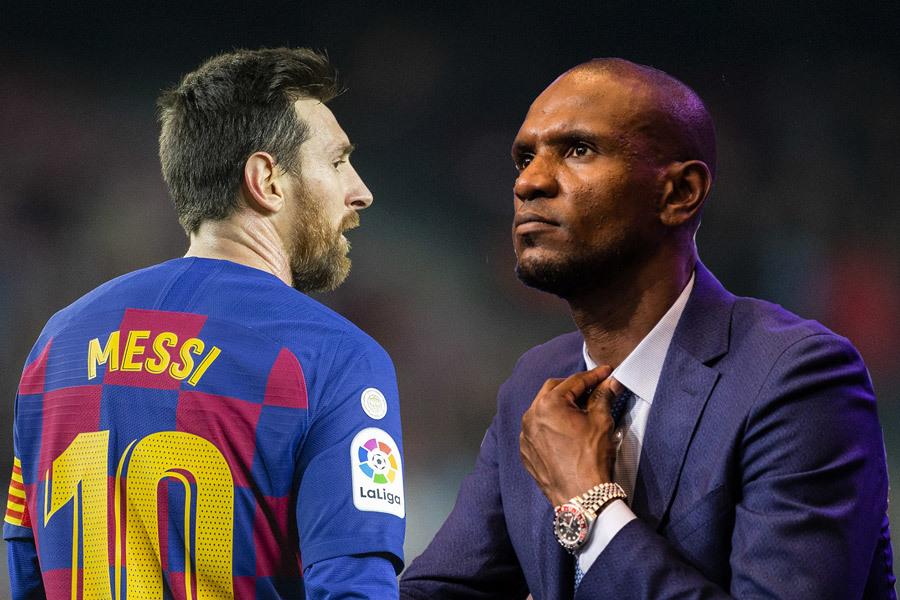 Messi từng vi phạm hợp đồng khi đăng đàn chỉ trích Eric Abidal. Nhưng Messi không bị phạt, còn Abidal thì mất chức. Ảnh: Corbis