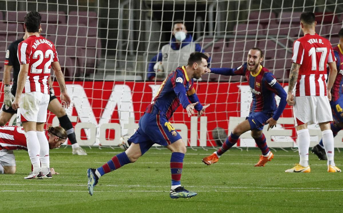 Messi muốn tập trung thi đấu đến hết mùa, khi hợp đồng chỉ còn tính bằng tháng. Ảnh: Reuters.