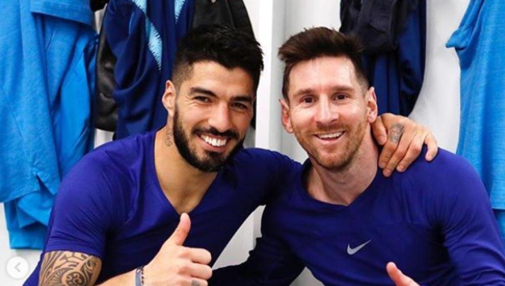 Suarez memenangkan semua gelar bersama Messi di Barca, 2014-2020.  Foto: Marca.