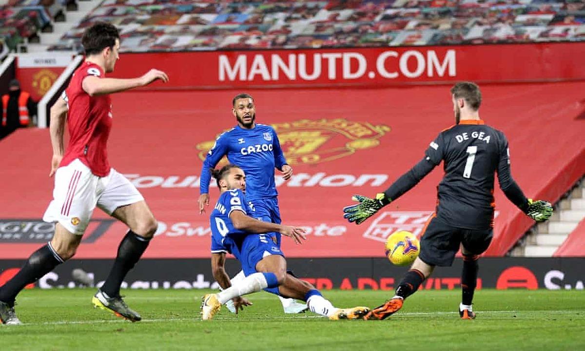 Calvert-Lewin mencetak gol untuk membantu Everton mendapatkan satu poin dari Man Utd.  Foto: PA
