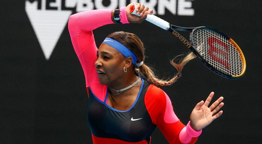 Serena chỉ còn cách kỷ lục của Margaret Court một Grand Slam. Ảnh: AP.