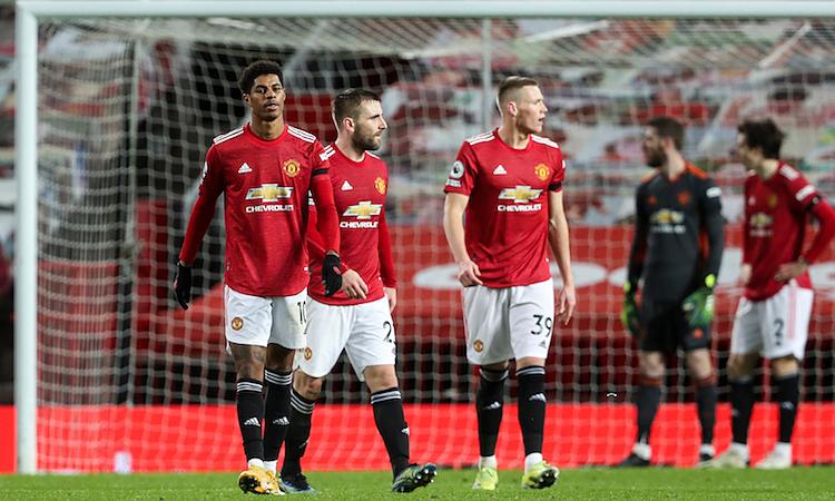 Man Utd bị Everton cầm hoà dù dẫn 2-0 hôm 6/2. Ảnh: Reuters.