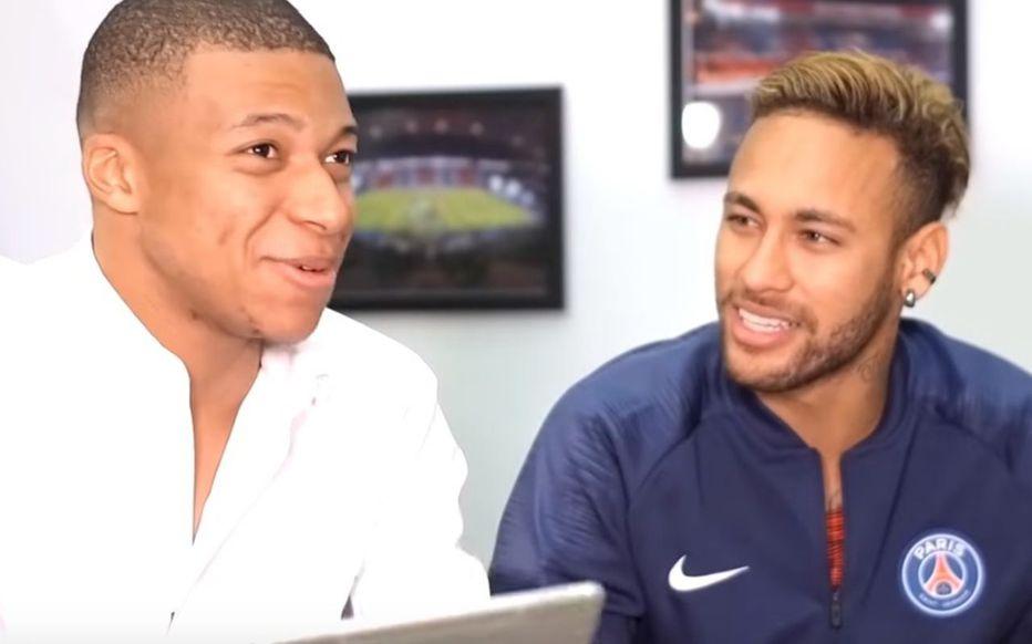 Neymar dan Mbappe menjadi tuan rumah bersama program pertukaran online dengan penggemar PSG pada Januari 2019.  Foto: Le Parisien