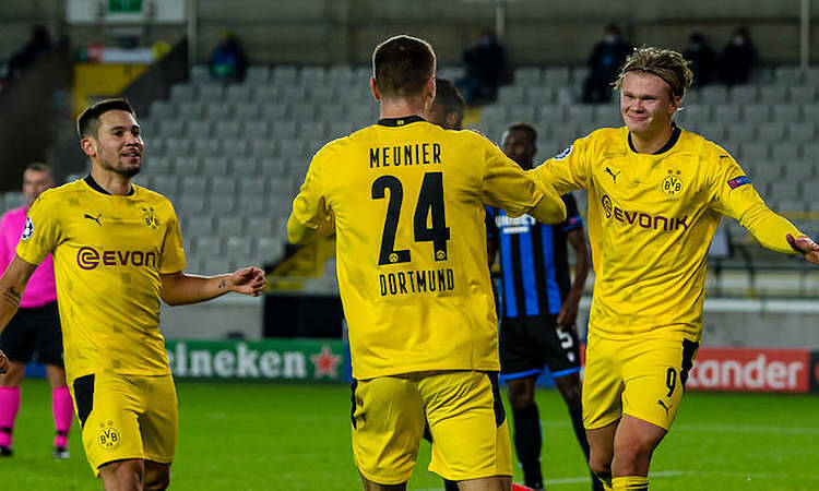 Meunier menghargai naluri berburu Haaland.  Foto: Borussia Dortmund.