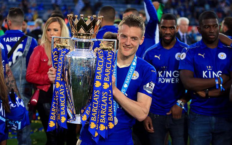 Vardy cùng Leicester làm nên một trong những câu chuyện cổ tích đẹp nhất của bóng đá Anh. Ảnh: PA.