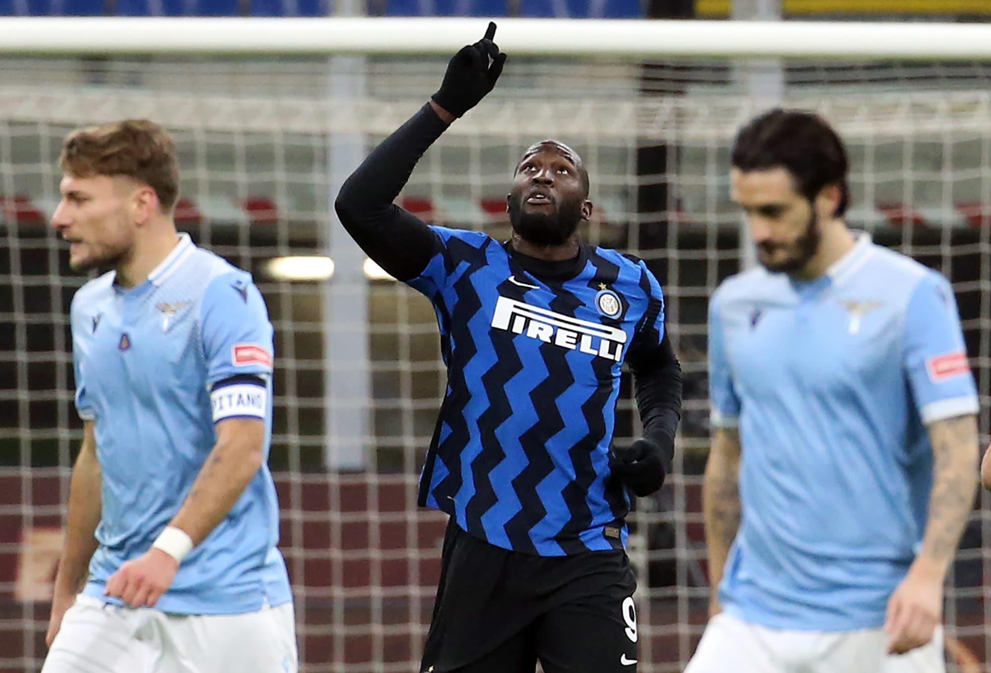 Lukaku là người hùng trong chiến thắng quan trọng của Inter trước Lazio. Ảnh: ANSA