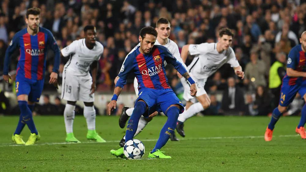 Neymar muốn tái ngộ Barca để sống lại cảm giác thăng hoa như khi anh toả sáng giúp Barca vượt qua chính PSG ở vòng 1/8 Champions League cách đây bốn năm. Ảnh: AFP