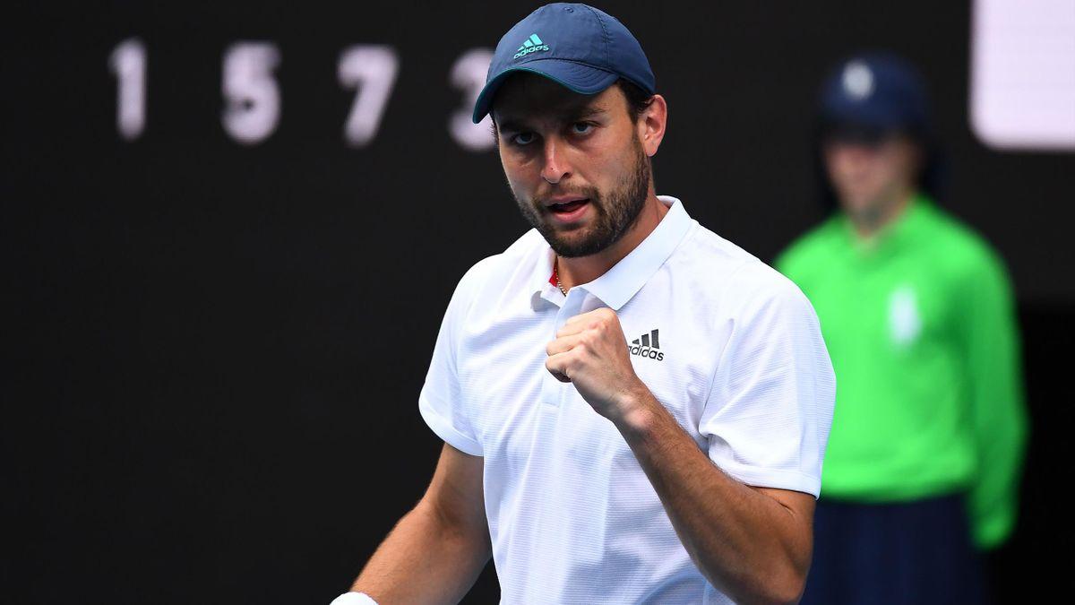 Sebelum turnamen, Karatsev hanya memenangkan tiga dari 13 pertandingan di ATP Tour.  Foto: AP.