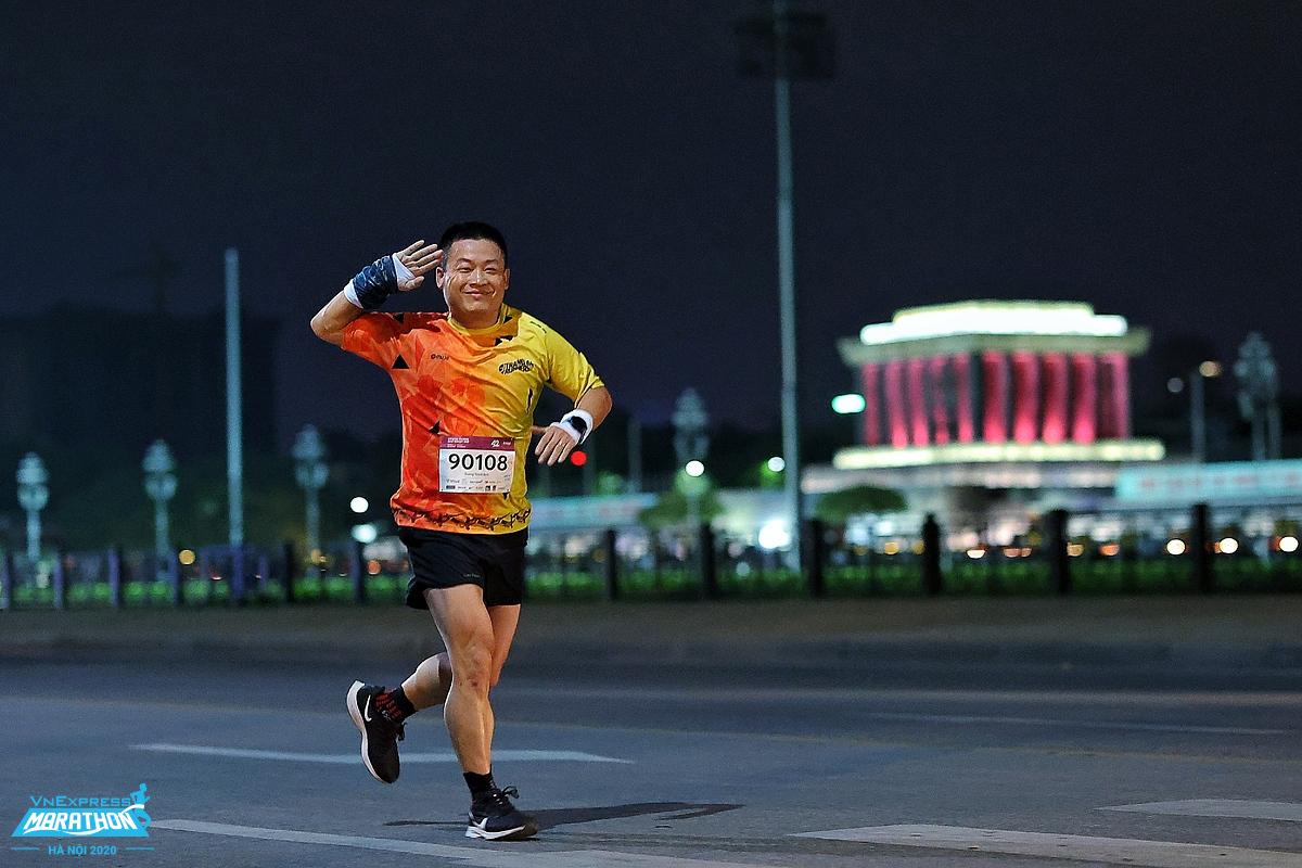 Một vận động viên tham gia