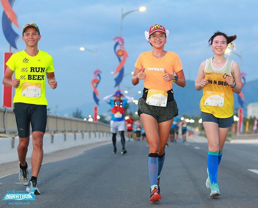 3 vận động viên dự VM Quy Nhơn 2020. Ảnh: VnExpress Marathon.