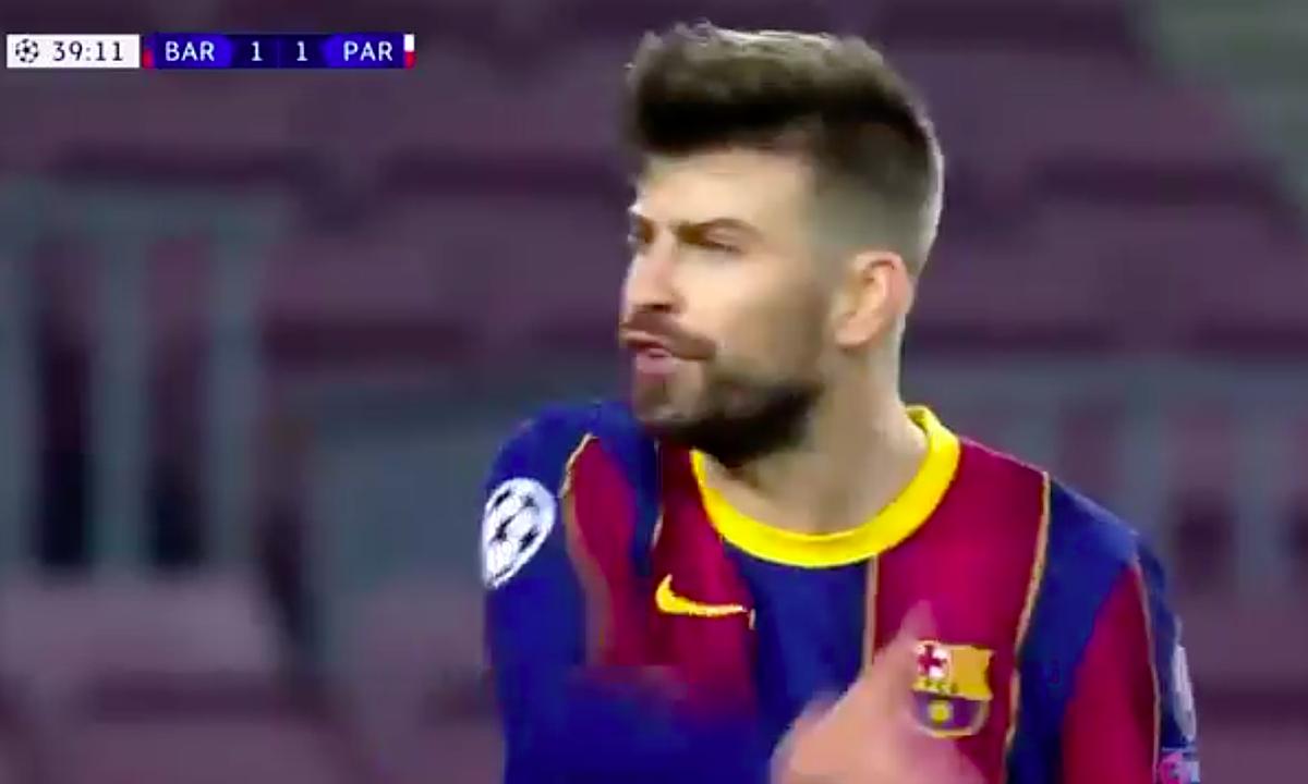 ปิเก้สาปแช่ง Griezmann และเพื่อนร่วมทีมของเขาที่ไม่สามารถครองบอลได้นานพอทำให้การป้องกันของ Barca ทำงานหนัก  ภาพหน้าจอ