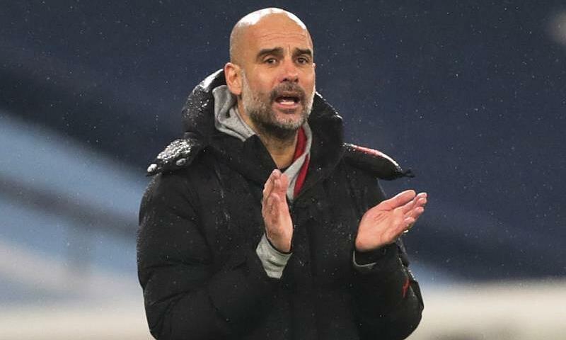Guardiola vẫn khiêm tốn về cơ hội vô địch của Man CIty. Ảnh: Reuters