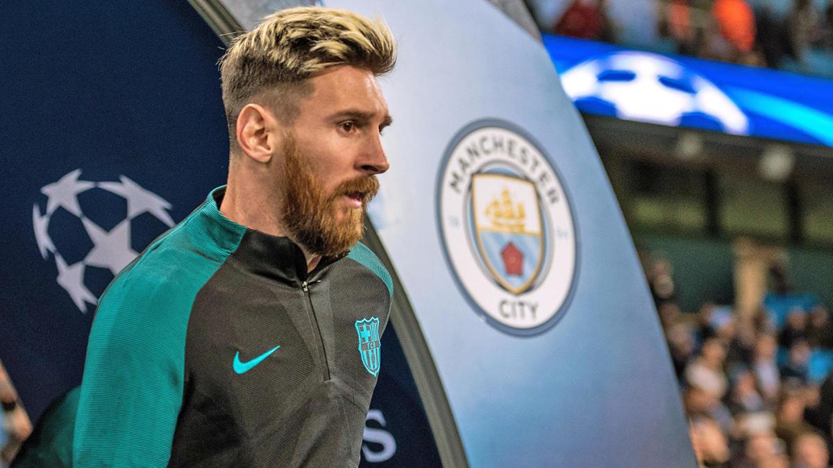Messi chỉ còn bốn tháng hợp đồng với Barca và từng được Man City theo đuổi hè 2020. Ảnh: Sky.