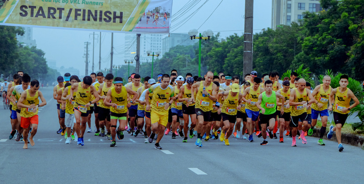 VKL Runners club members during a running tournament in September 2020.
