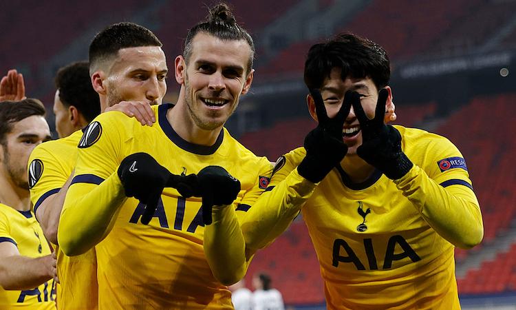 Bale dan Son sama-sama mencetak gol dalam kemenangan gembira Tottenham.  Foto: Tottenham Hotspur.