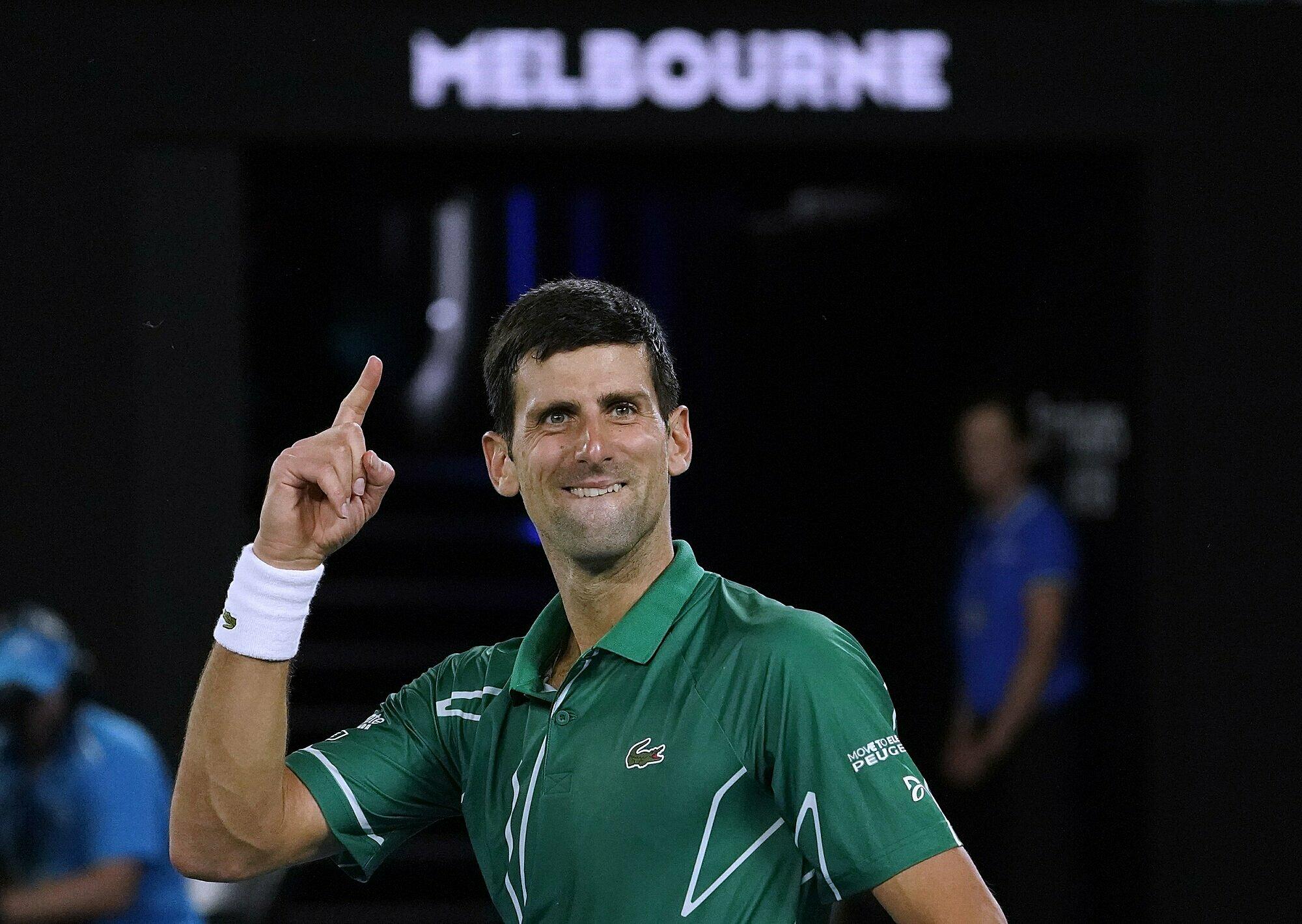 Djokovic memenangkan 10 dari 11 pertandingannya melawan 4 Besar di Australia Terbuka.  Foto: AP.