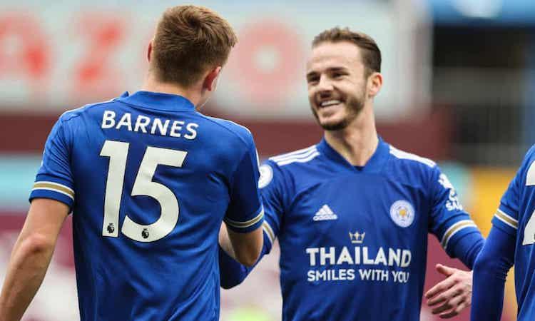 Maddison và Barnes lần lượt lập công, giúp Leicester giành ba điểm. Ảnh: AMA.