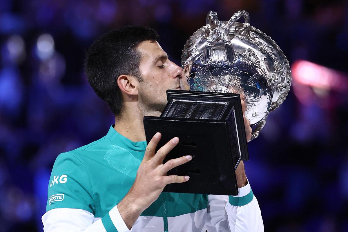 Djokovic là nhà vô địch Grand Slam vĩ đại nhất thập niên 2010 với 15 danh hiệu. Ảnh: ATP.