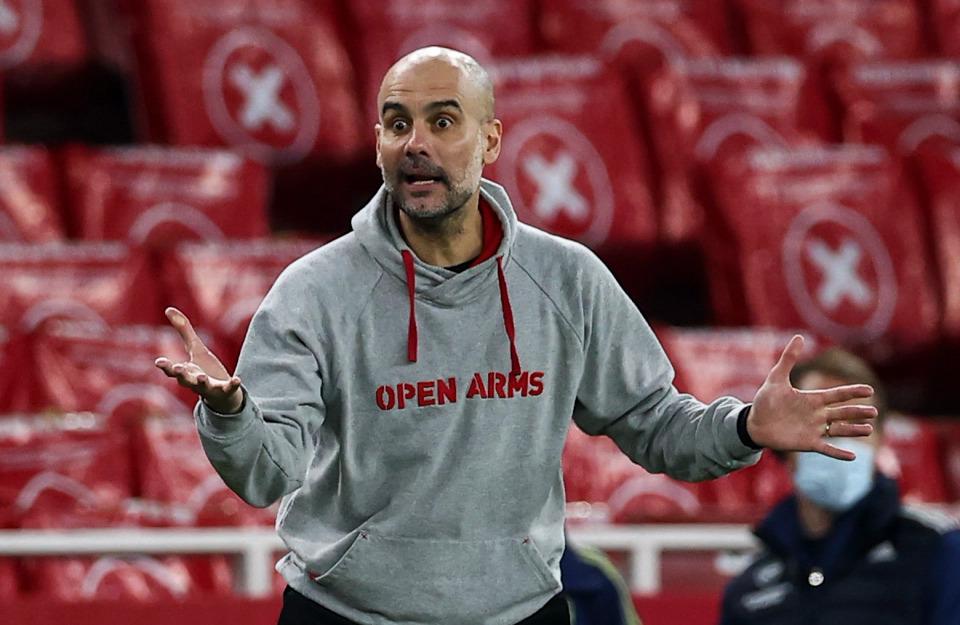 Guardiola và Man City đang có cơ hội lớn để vô địch Ngoại hạng Anh. Ảnh: Times