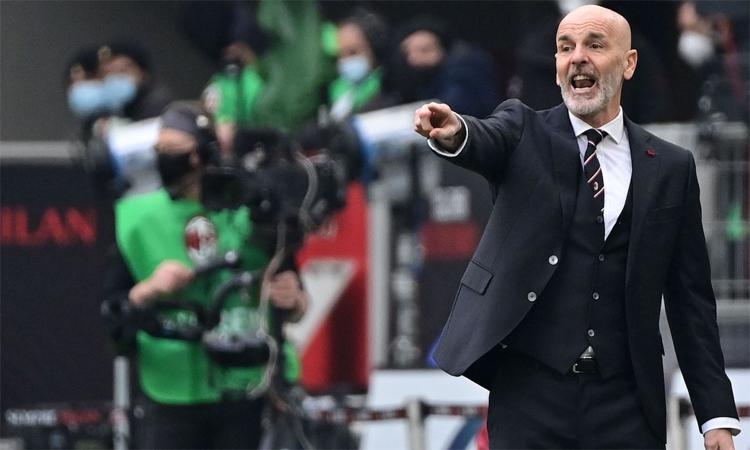 Pioli cho rằng Milan cần biết hài lòng với những gì đã làm được. Ảnh: AFP.