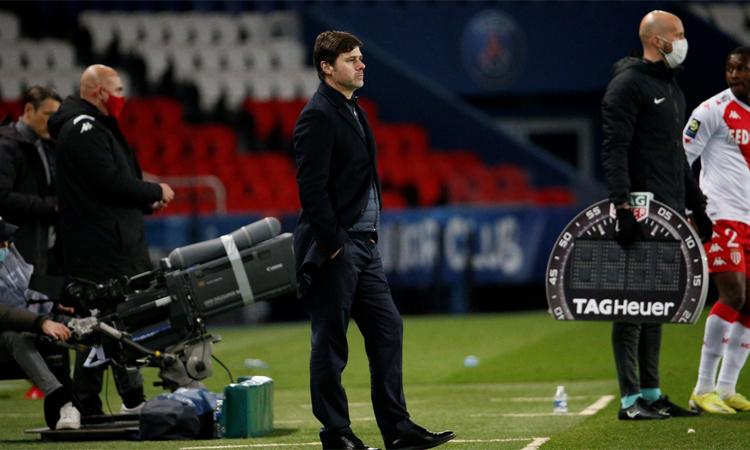 Pochettino không hài lòng với khả năng tận dụng cơ hội của PSG ở trận thua Monaco. Ảnh: PSG.