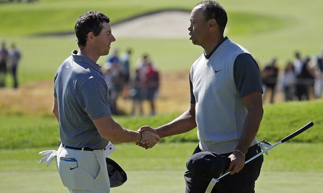 McIlroy got along very well with Tiger Woods through meetings on the PGA Tour.  Photo: AP