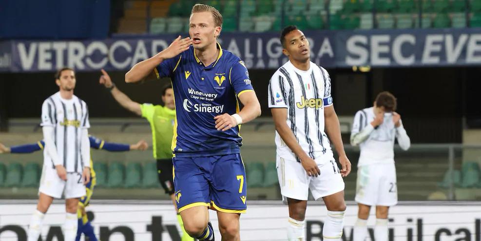 Barak ดีใจหลังตีเสมอ Hellas Verona ในนาทีที่ 78 ภาพ: ANSA