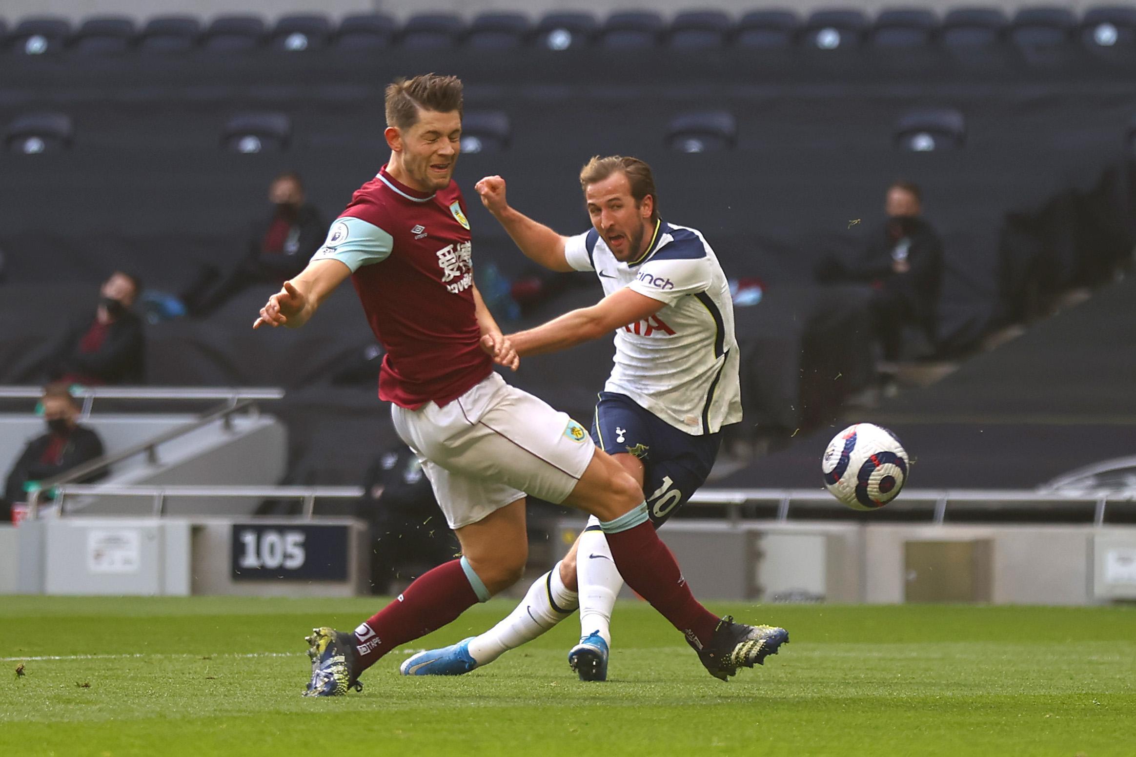 Pertahanan Burnley runtuh dengan kecepatan Tottenham.  Dalam gambar tersebut adalah situasi dimana Kane menaikkan skor menjadi 2-0.  Foto: Twitter / Liga Inggris