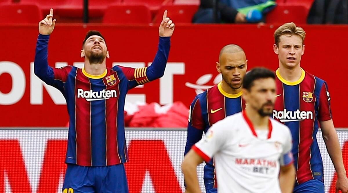 Messi memimpin daftar pencetak gol di Barca dan La Liga bahkan pada usia 34 tahun.  Foto: Reuters.