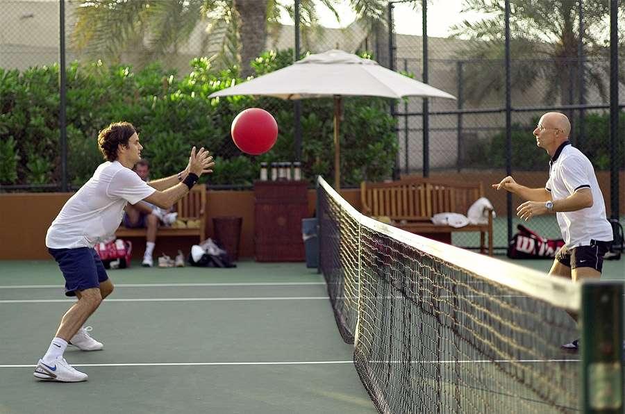 Pelatih Paganini membantu Federer kembali ke Doha Open pada 8 Maret.  Foto: Marca.