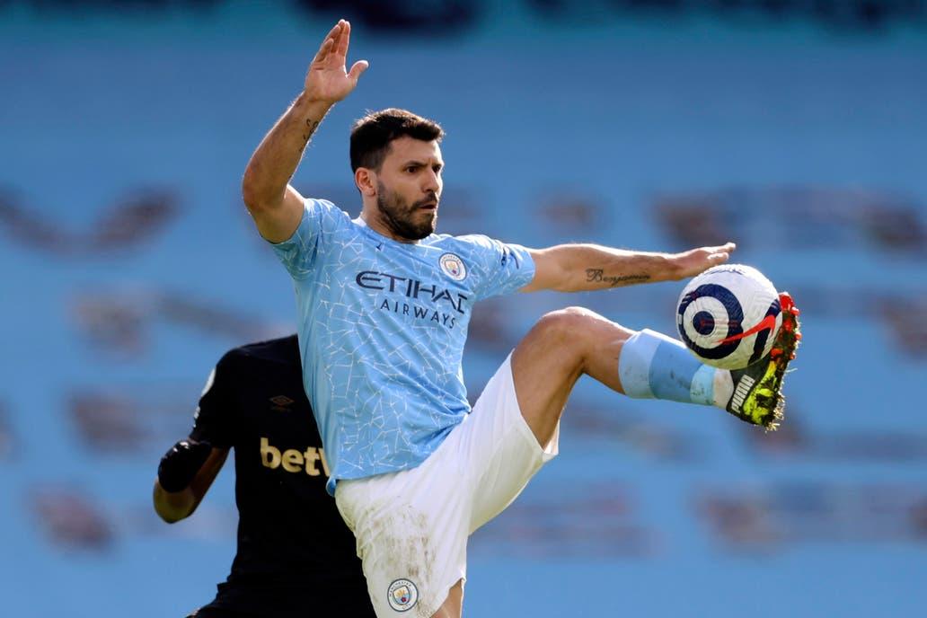 Aguero hanya mencetak dua gol untuk Man City pada musim 2020-2021.  Foto: Reuters.