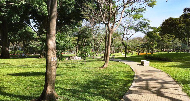 Ideal running tracks in Ho Chi Minh City
