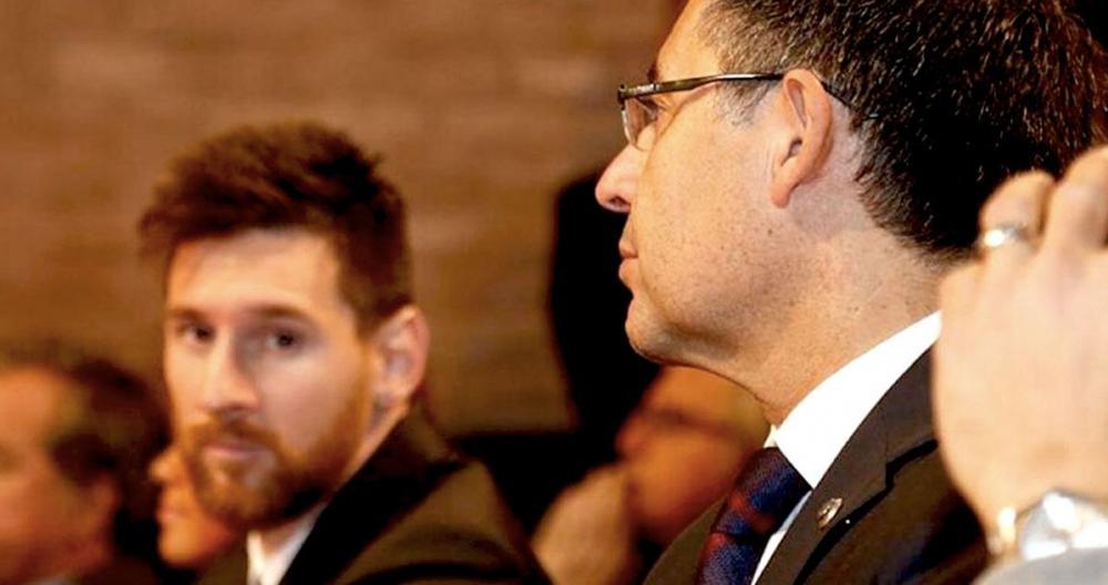 Quan hệ giữa Messi với Bartomeu rạn nứt nghiêm trọng trong khoảng hai năm trước khi Bartomeu từ chức Chủ tịch Barca. Ảnh: EFE
