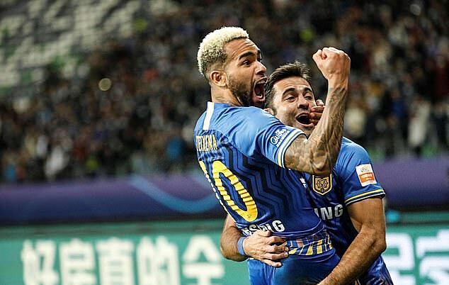 สโมสรเจียงซูหยุดทำงานอย่างไม่มีกำหนดและตกอยู่ในอันตรายอย่างมากที่จะถูกยุบ  พวกเขาเคยโด่งดังในวงการฟุตบอลจีนและเข้าร่วมการแข่งขัน AFC Champions League เป็นประจำ  ภาพ: AFP.