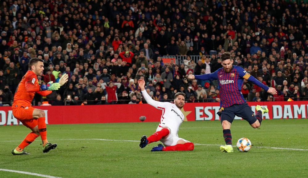 Messi ấn định chiến thắng 6-1 cho Barca trong trận lượt về năm 2019. Ảnh: Reuters.