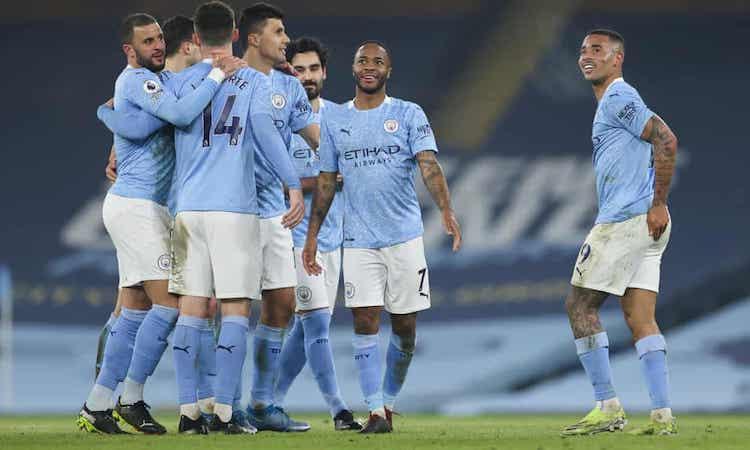 Man City tiếp tục thể hiện phong độ huỷ diệt trước trận derby Manchester. Ảnh: Pool.