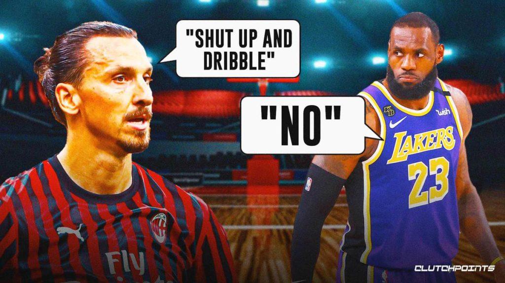 Ibrahimovic và LeBron James bất đồng quan điểm về chuyện ngôi sao bóng rổ Mỹ lên tiếng phản đối việc đàn áp người da màu ở Mỹ.