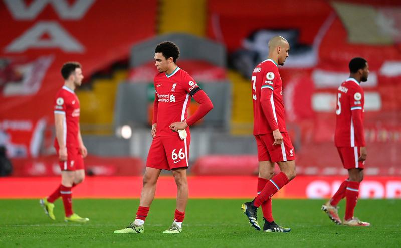 Liverpool đã thua năm trận sân nhà liên tiếp ở Ngoại hạng Anh. Ảnh: Sky.