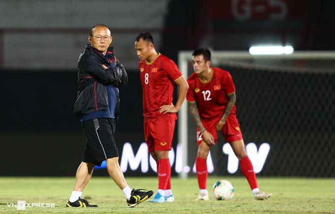 HLV Park Hang-seo cho biết giành vé vào vòng loại cuối cùng World Cup 2022 là mục tiêu lớn nhất trong năm nay. Ảnh: Lâm Thoả