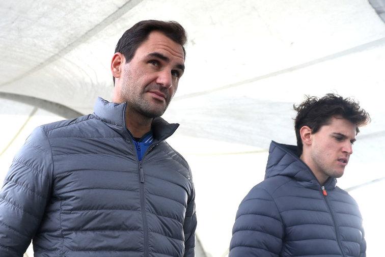 Federer và Thiem là hai hạt giống hàng đầu Qatar Mở rộng năm nay. Ảnh: ATP.