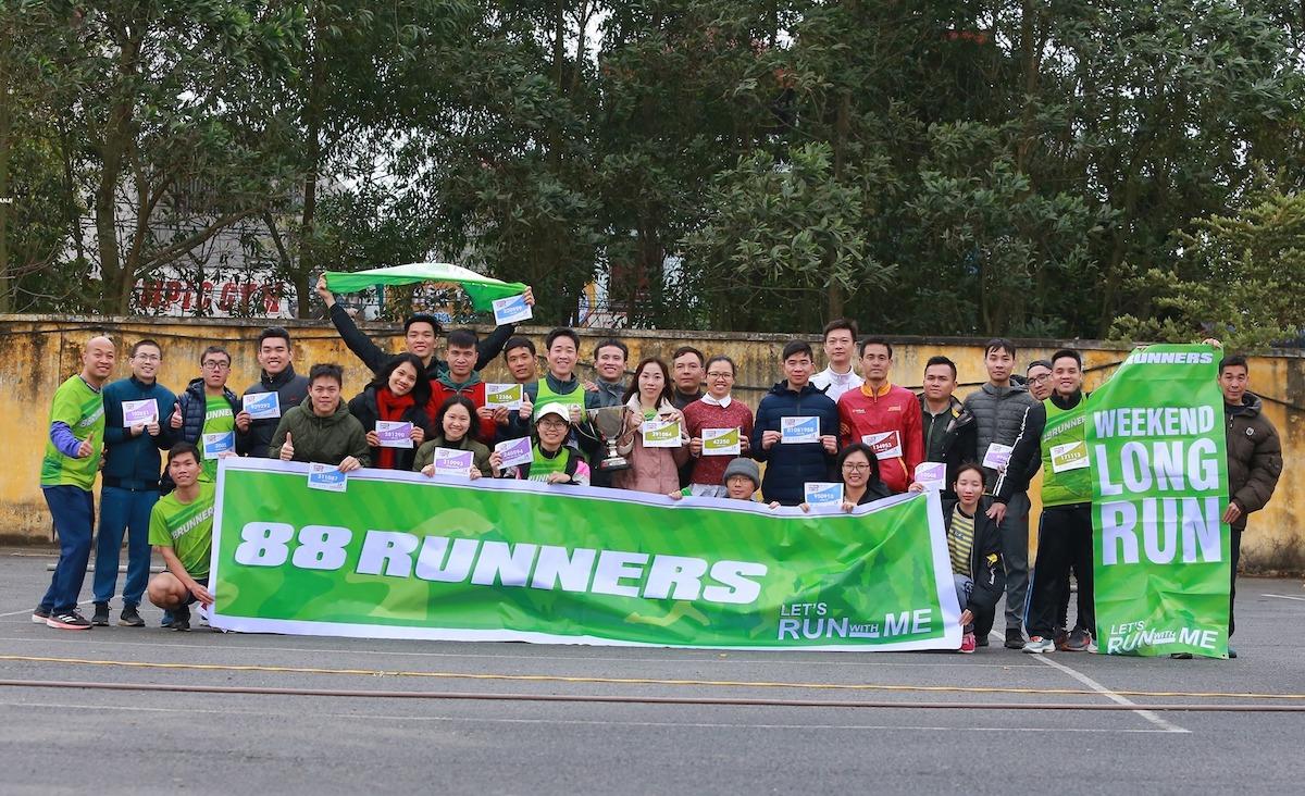 Một hoạt động chạy dài của 88 Runners.