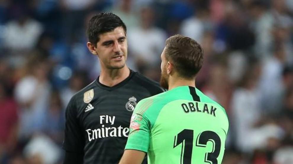 Courtois và Oblak có thêm một cơ hội để phân tài cao thấp khi cùng Real và Atletico đấu derby hôm nay.