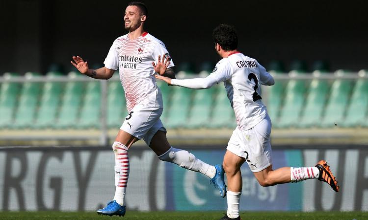 Krunic membantu Milan memecah kebuntuan dengan tendangan gawang.  Foto: Calciomercato.