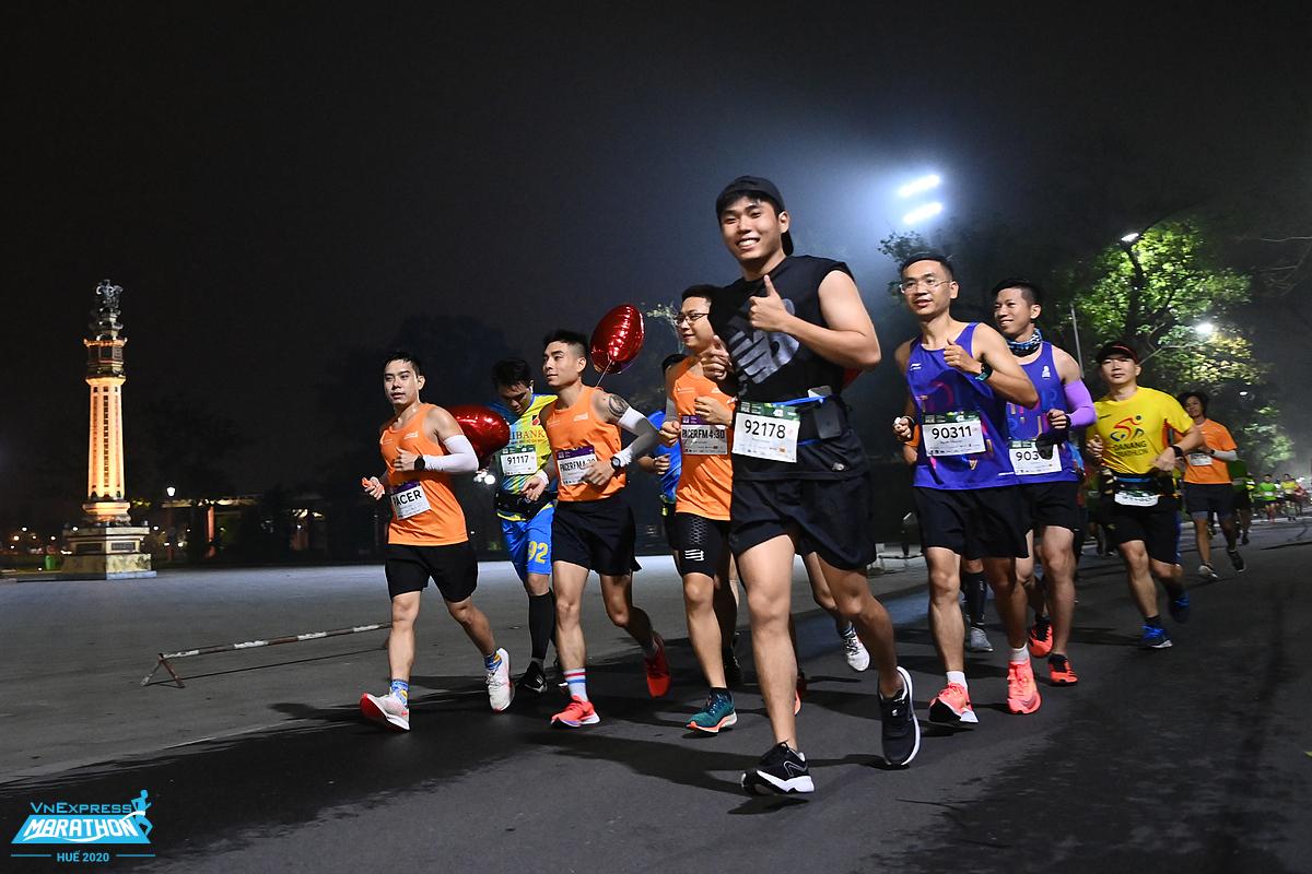 Athletes at VnExpress Hue Marathon 2020. Photo: VnExpress Marathon.
