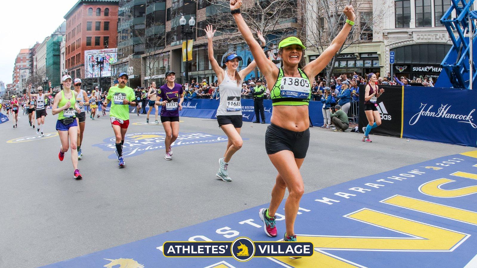 2021 adalah tahun pertama Boston Marathon membuka lari virtual untuk pelari di seluruh dunia tanpa mengurangi atlet berdasarkan standar BQ.  Foto: Marathon Boston