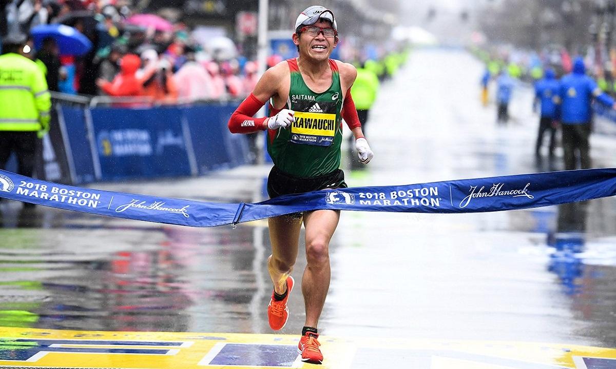 Yuki Kawauchi vô địch Boston Marathon 2018. Ảnh: Boston Marathon.