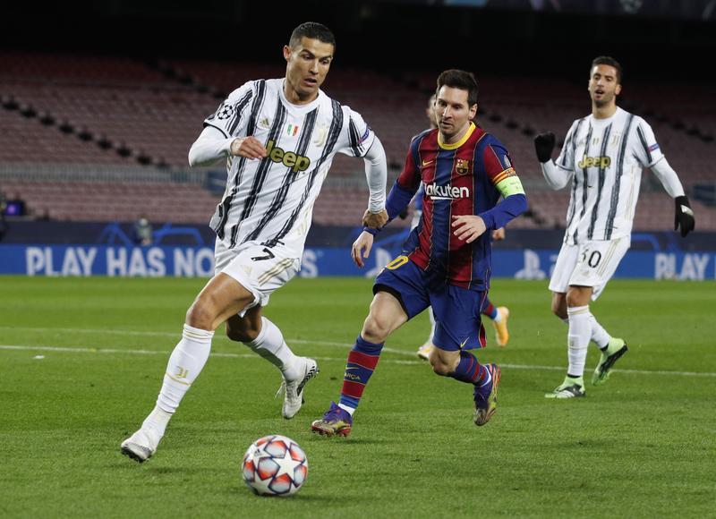 ทีมของโรนัลโด้และเมสซี่เสียเปรียบทั้งคู่ในเลกแรก  ภาพ: Reuters